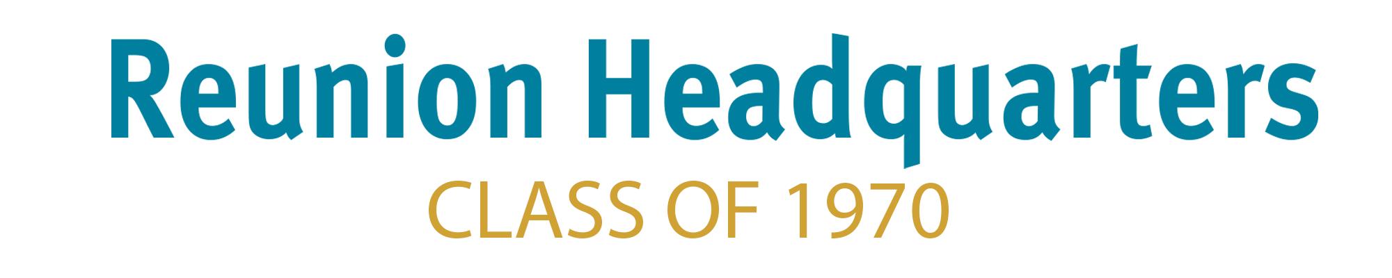Class of 1970 Header