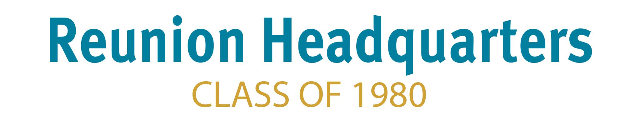 Class of 1980 Header
