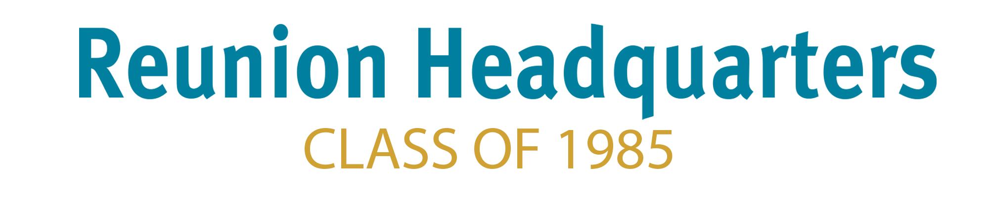 Class of 1985 Header
